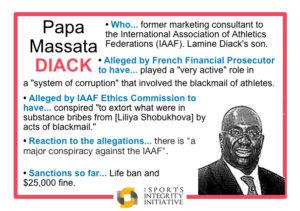 Diack - alleged spelt correctly