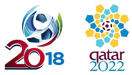 FIFA World Cups in Russia 2018 and Qatar 2022